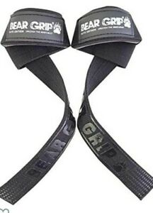 Beargrip Weight Lifting Straps- Elite Blacked Out