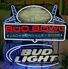 Bud Light 2005 Xxxix Super Bowl Neon Bar Sign Patriots Eagles Jacksonville Fl