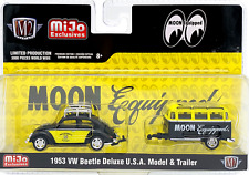 M2 MACHINES 1953 VW BEETLE DELUXE w/TRAILER SET MOONEYES MIJO EXCLUSIVE 1/3000