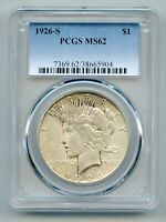 1926 S Peace Silver Dollar PCGS MS 62