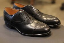 Alden 909 Black Calf Leather Oxford Shoes Balmoral Brogue Made in USA New Sz 9 D