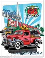 Tin sign 31 x 40, Mel's Diner - 66 Years, USA Advertising sign Art. #1924