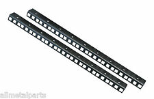 9U  RACK STRIPS ,  in Black sold in pairs made by AllMetalParts