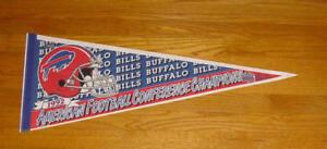 1992 Buffalo Bills AFC Champs pennant Super Bowl XXVII Jim Kelly Original SB 27