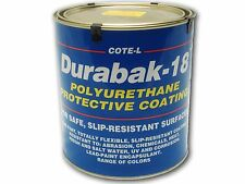 Durabak 18 Textured - Non Slip Coating, Bedliner, Deck Paint for ALL Boats-WHITE
