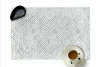 Placemats Heat-resistant PVC Dinner Table Mat Non-Slip Washable Woven Set of 6