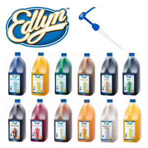 Edlyn Flavoured Syrup Topping 3L | Various Flavours, Pumps, Milkshake