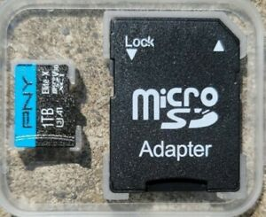 PNY 1TB Elite Class 10 U3 V30 SDXC Card with free Adapter & Micro SD to USB!!!