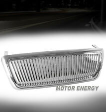 04-08 FORD F-150 PICKUP TRUCK VERTICAL SPORT FRONT UPPER MAIN GRILLE ABS CHROME
