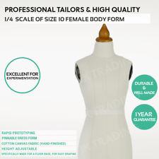Miniature 1/4 Scale Dress Form Dressmaker Tailor Fashion Design Mannequin Dummy