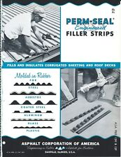 Brochure Perm-Seal Filler Strip for Steel Asbestos et al Sheet Roof 1956 (AF156)