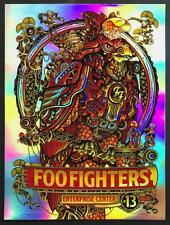Mint & Signed Foo Fighters St Louis Burwell Foil Poster 13/45