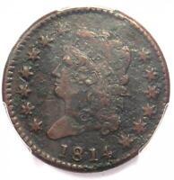 1814 Classic Liberty Head Large Cent 1C - PCGS VF Detail - Rare this Sharp!