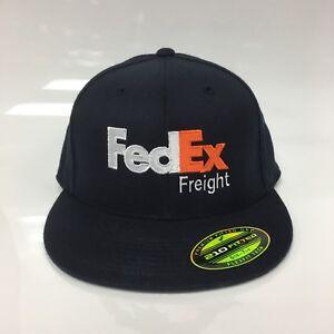 New FedEx Freight Flexfit Cap Premium 210 Fitted Hat S/M Dark Navy 6 7/8-7 1/4
