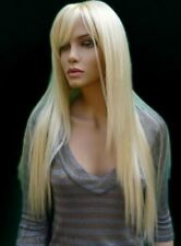 High Quality Wig New Fashion Elegant Women's Long Platinum Blonde Straight Wigs