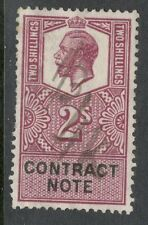 Rey George V - 2s contrato nota-Buen Estado