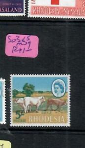 RHODESIA  (P1206B)  QEII 5/-  COW    SG 385       MOG