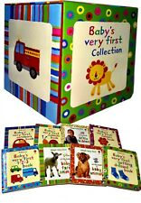 Usborne Baby's Very First Collection 8 Books Set Children Gift Pack Farm Animals