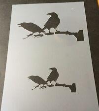 Corbeaux sur branche Halloween Mylar Réutilisable Pochoir Aérographe Peinture Art Craft À faire soi-même