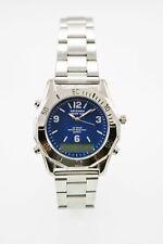 Arizona Jean Co Watch Mens Chro 24hr Alarm Date Stainless Silver 30m Blue Quartz