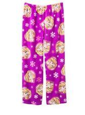 DISNEY Girls Princess Rapunzel Star Plush Pajama Pants Multi Pink/Purple M(7/8)