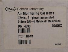 New 60 Qty Pall Gelman Lab Air Monitoring Cassettes 4336 3 Pc 37mm 08um Q127
