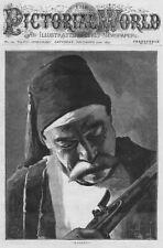 RUSSO TURKISH WAR 'Kismet' A Turkish Soldier - Antique Print 1877