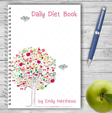PERSONALISED A5 DIET DIARY, WEIGHT LOSS & FOOD TRACKER, DIETING, SLIMMING LOG 03