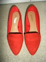Adorable Bamboo size 7 red slip on loafers flats shoes NWOB women