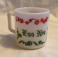 Vintage Christmas Hazel Atlas Egg Nog Punch Jingle Bells Cup Mug