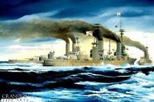 Naval Art  Battleship royal navy HMS Agincourt HMS Erin Battle of Jutland