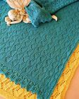 ESTONIAN LULLABY BABY BLANKET to KNIT IN 3 DIFFERENT YARN WTS by EVELYN A. CLARK