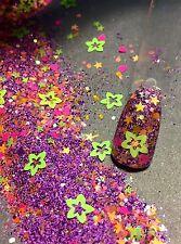 Glitter Mix Acrylic Gel Nail Art   JUST RIGHT