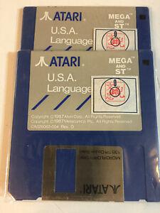 "Atari ST/MEGA LANGUAGE Disk SS Blue NEW 2 EACH DISK 3 1/2"""