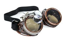 Steampunk Victorian Welding Copper Goggles 2X Lens Scissors Punk Goth Cosplay