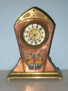 Arts & Crafts clock Archibald Knox copper enamel Liberty A.E. Jones art nouveau