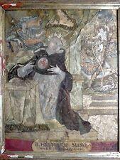 Antico oggetto devozionale S.Henricus Suso Enrico Suso Heinrich Seuse domenicano