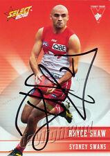 ✺Signed✺ 2012 SYDNEY SWANS AFL Premiers Card RHYCE SHAW