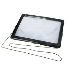 Large Hands Free Magnifying Glass LED Light Magnifier For Reading With Cord X1N2