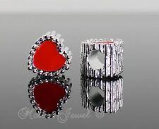 Love & Hearts Red Charms & Charm Bracelets