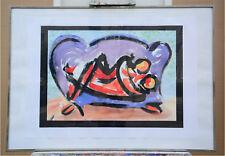 ORIGINAL Edith Cortelli (Kortelly) - Bild * signiert * Wasserfarbe * gerahmt