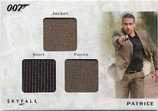 2013 James Bond Autos & Relics STC1 Triple Patrice Relic card 117/200