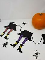 2m Hanging Witch Garland Halloween Decoration Prop Scene Witch Legs Tights Party