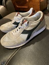 Genuine Men's Vintage Diadora Runners Trainers Size 9 Good Condition
