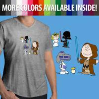 Star Wars Peanuts Snoopy Darth Vader BB8 R2D2 Linus Fun Mens Tee V-Neck T-Shirt