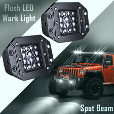 4inch CREE 140W LED Flush Mount Pod Quad Row Work Light Bar Spot 6000K Driving