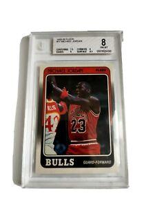 1988-1989 Fleer Michael Jordan #17.  Beckett GRADED 8 NM-MT