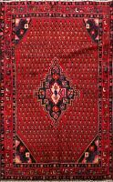 Geometric Paisley Hamedan Area Rug Traditional Oriental Hand-knotted WOOL 3x5 ft