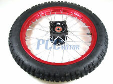"12"" RED FRONT ALUM RIM WHEEL SDG COOLSTER 107 110 125cc PIT BIKE V WM06R"