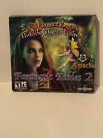 "Amazing Hidden Object Games ""Fantastic Fables 2"" PC Game 5-PACK - FACTORY SEALED"